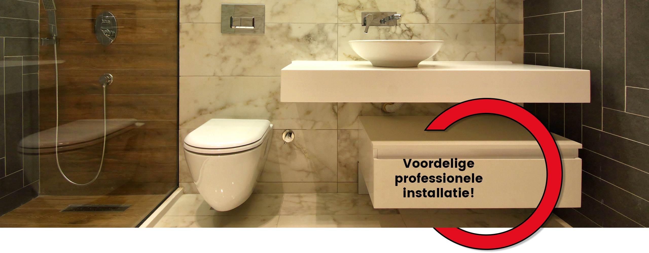 Badkamer verbouwen door de installateur uit Sittard